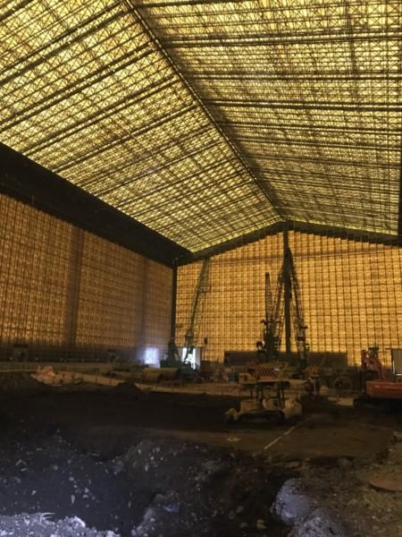 大型テント解体