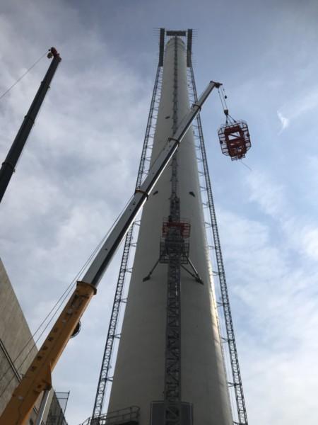 タワークレーンと鉄骨建方施工開始のお知らせ!